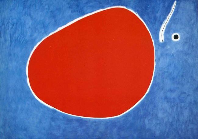 Miro's 'The Flight of the dragonfly in Front of the Sun' ('El vol de la libèl·lula davant del sol'), 1968.