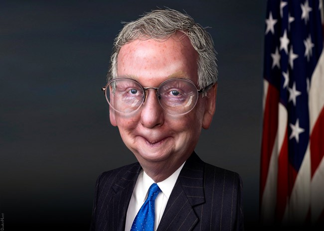 Senate Majority Leader Mitch McConnell has different ideas. (DonkeyHotey)