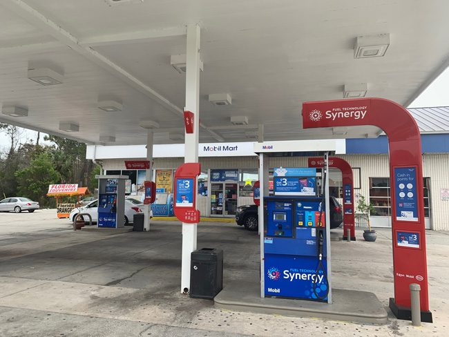 The Mobil Mart on State Road 100 in Palm Coast, where Zuheili Rosado was murdered six years ago. (c FlaglerLive)