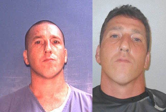 Sean Monti in his state prison and Flagler jail mug shots.