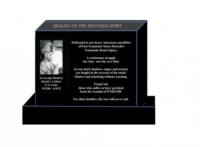 A conceptual rendition of the monument proposed for Heroes Park. Click on the image for larger view.