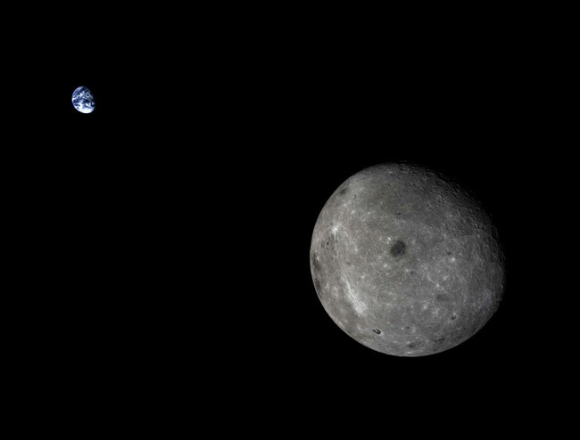 moon Earth from Chang'e 5-T1