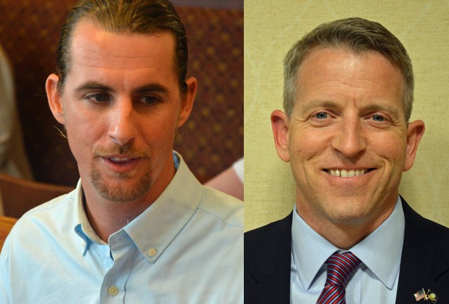 Adam Morley, left, and Paul Renner are contending for the Florida House seat that represents all of Flagler County in the April  7 special election. (© FlaglerLive)