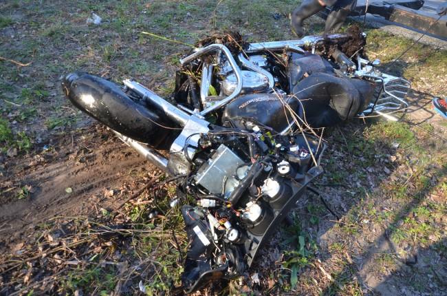 The motorcycle out of the water. Click on the image for larger view. (© FlaglerLive)
