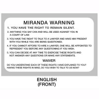 miranda rights full text warning