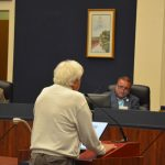Mike Cocciola, a Democratic Party leader, implored the commission to focus on Flagler-related issues at the beginning of today's meeting. (© FlaglerLive)