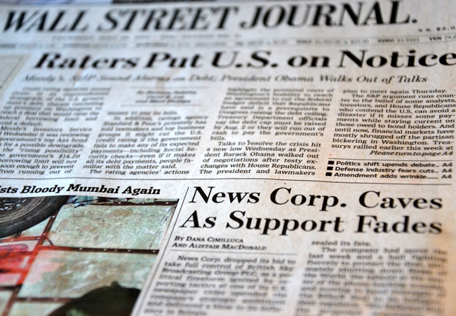 wall street journal rupert murdoch news of the world