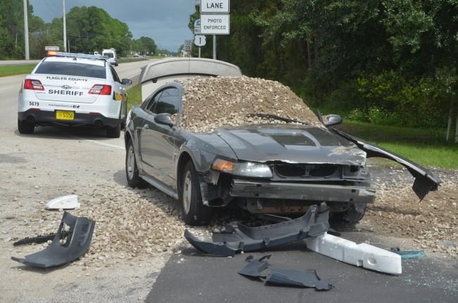 mustang dump truck wreck