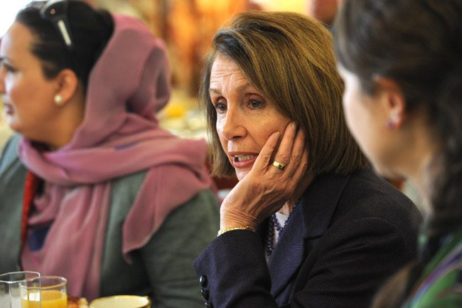 Pondering liberalism's future with Nancy Pelosi. (U.S. State Department)