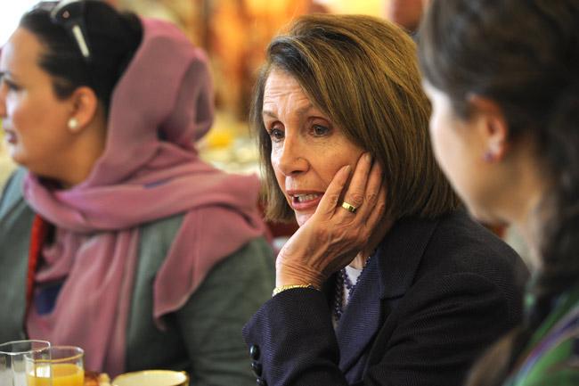 Pondering liberalism's future with Nancy Pelosi. (U.S. State Department)