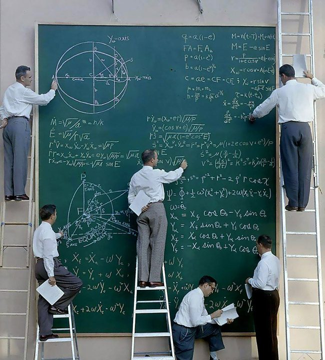 NASA before the decadent age of powerpoint presentations. (NASA)