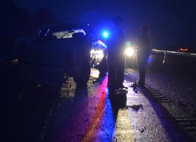 Police at work. (© FlaglerLive)