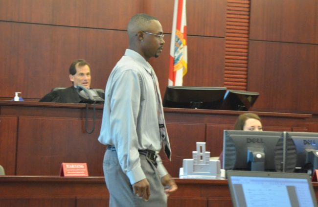 Next for C.J. Nelson is either a plea agreement or trial, again before Circuit Judge Dennis Craig, in the background, later this spring. (© FlaglerLive)