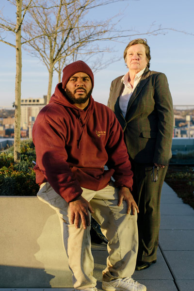 Michele Nethercott, head of the Innocence Project Clinic in Baltimore, helped Smith fight to be cleared of a murder he didn't commit and then to be released from a prison sentence for another crime he said he didn't do. (Lexey Swall for ProPublica)