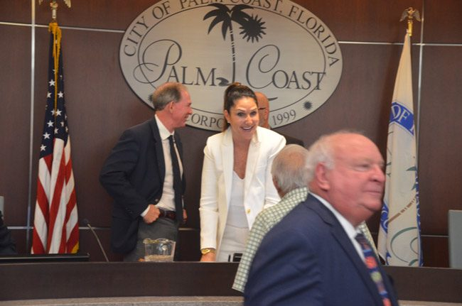 On the Palm Coast City Council, a new era begins with Mayor Milissa Holland as the Jon Netts reign walks away. (© FlaglerLive)