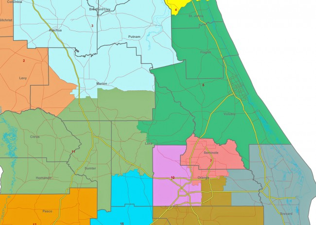 The new districts the Florida House approve largely follow base-map proposals that would shift Flagler's congressional district south.