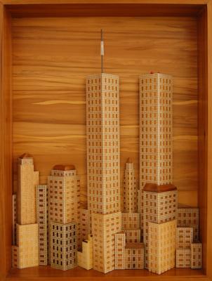 John Schumacher's 'New York Skyline' (© FlaglerLive)