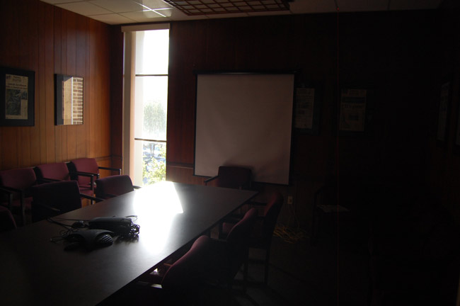 The old editorial board room at the News-Journal, now defunct. (© FlaglerLive)