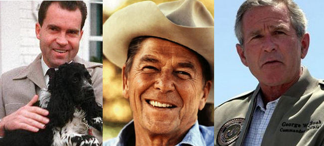 ronald reagan richard nixon george bush