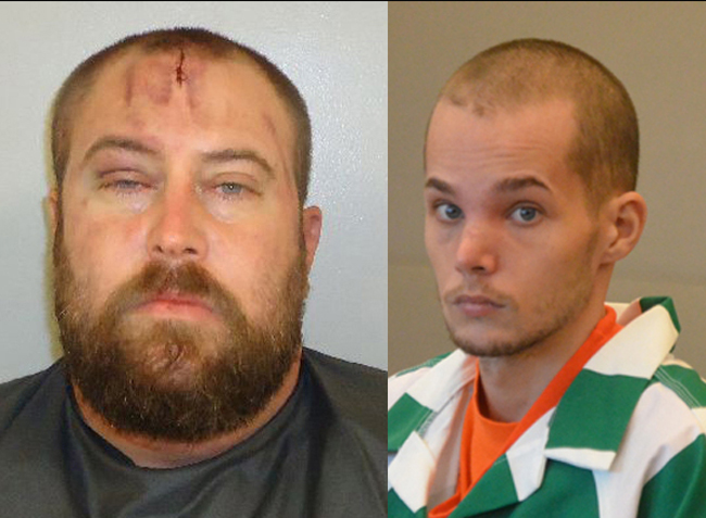 Daniel Noble, left, and Joseph Bova were both in court today, but they did not say a word.