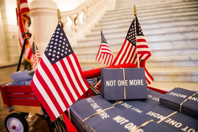 Loads of postcards imploring members of Congress to take gun control legislation more seriously included 1,600 gathered from the 6th Congressional District that includes all of Flagler County. (Everytown)