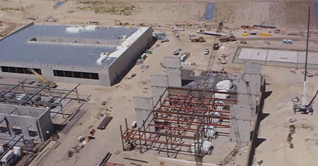 The NSA's $2 billion 'spy center' in Utah, under construction.