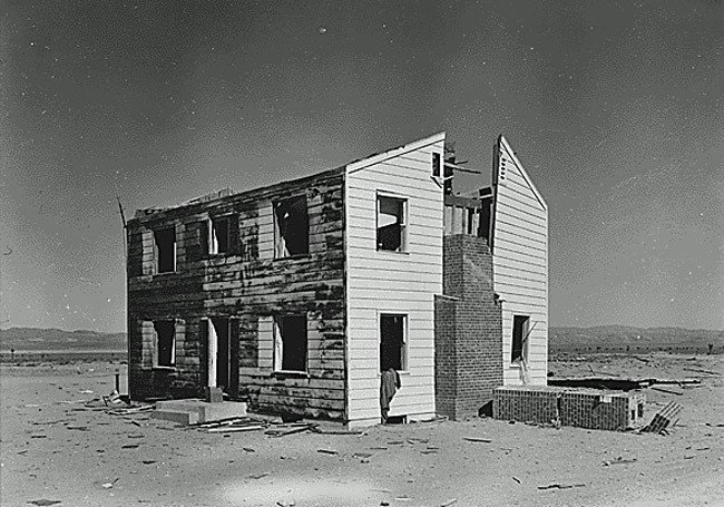nuclear test blast house operation cue 1955
