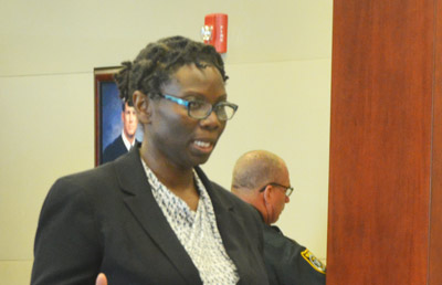 Public Defender Regina Nunnally, who is defending James Taylor. (© FlaglerLive)