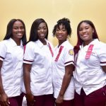 Bethune-Cookman University Nursing students, Sara Pascall, Tyana Mack, Rachel Lewis, and Dezja Durden successfully completed the School of Nursing Program.