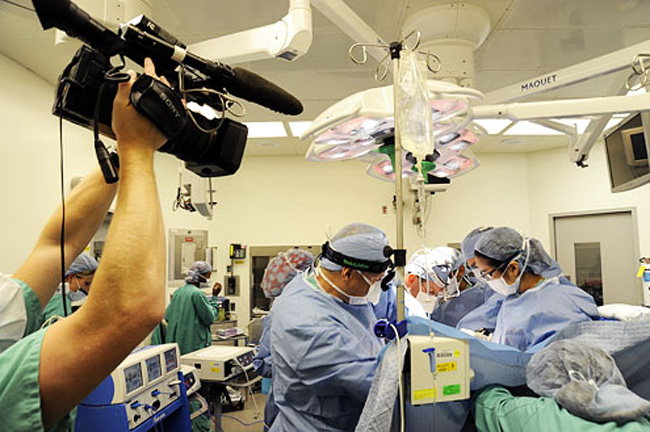 You're on camera, whether you like it or not: a scene from NY Med.