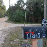 One of the post boxes the Postal Service won;tr deliver to on Oak Place in Flagler Beach, a street no different than many others in the city, the Hammock or unincorporated Flagler where delivery is routine.