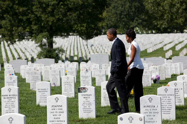 obama arlington cemetery 9/11 iraq afghanistan wars reckoning