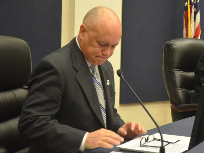 Flagler County Commissioner Donald O'Brien, just back from a disillusioning trip to the Florida Legislature, summed up the difference between local elected officials and lobbyists in a pithy few words Monday: 'We talk to citizens. They don't.' (© FlaglerLive)