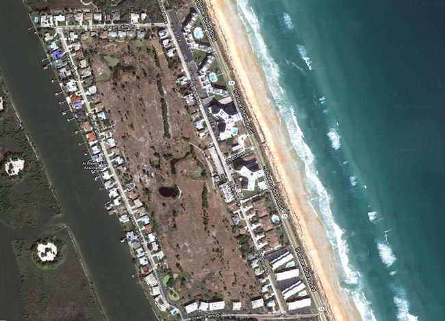 Ocean Palm Golf Club is at the southern end of Flagler Beach, rimmed, in a rough rectangle, by dozens of homes.