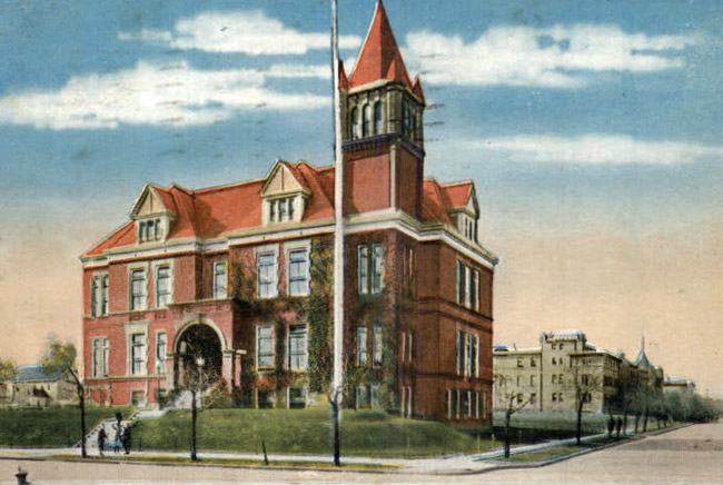 An old postcard of an even older city hall in Bayonne, N.J.