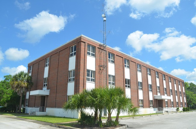 The old courthouse annex will be converted into classrooms for First Baptist Church of Palm Coast's academy. The administration will have its offices in the older portion of the courthouse, fronting Old Moody Boulevard on the other side. (© FlaglerLive)