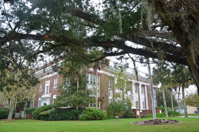 The old courthouse may soon be the new home of  the private school, First Baptist Christian Academy of Palm Coast. (© FlaglerLive)