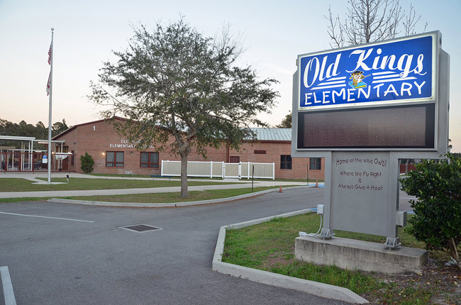 A parent at Old Kings Elementary was denied immediate access to her child's teacher to deal with a medical matter Wednesday, and was subsequently given wrong information about access. The district says it was not quite an emergency, and that with some patience and a better understanding of the rules the matter would have been resolved. (© FlaglerLive)