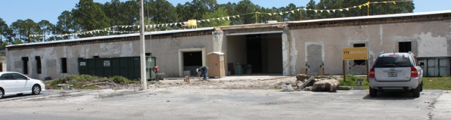 Ongoing construction at the future Operations Center of the sheriff's office. Click on the image for larger view.
