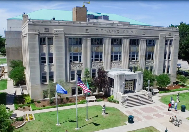 The trial begins today at the Cleveland County Courthouse in Norman, Okla. (Cleveland County)