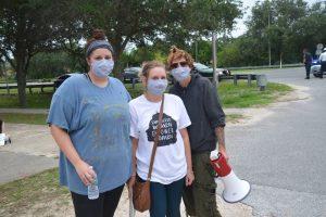 From left, Emily Sonni, Madison Barchowski and Karen Barchowski.(© FlaglerLive)