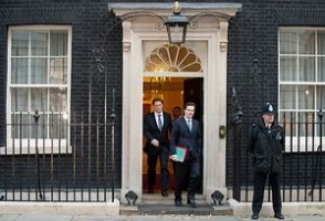 Chancellor of the Exchequer George Osborne and the Chief Secretary to the Treasury Danny Alexander