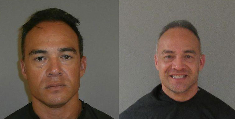 """Jeffrey """"Rocco"""" Paffumi at the time of his first arrest in 2012, left, and his arrest in January."""