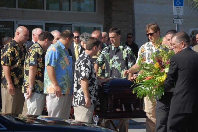 pallbearers josh crews funeral november 2010