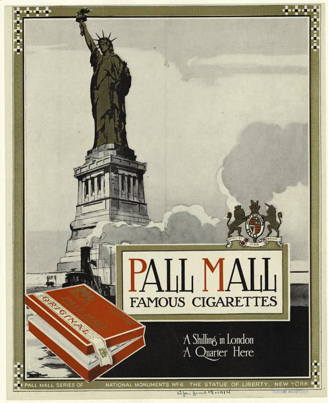 Pall Mall series of National monuments no. 6, from 1914 (New York Public Library collection).