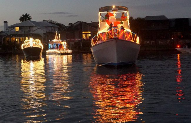The Palm Coast Holiday Boat Parade is Saturday evening. See details below. (Facebook)