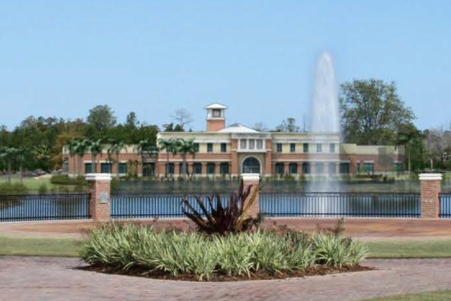An artist's rendering of the proposed Palm Coast City Hall at Town Center.