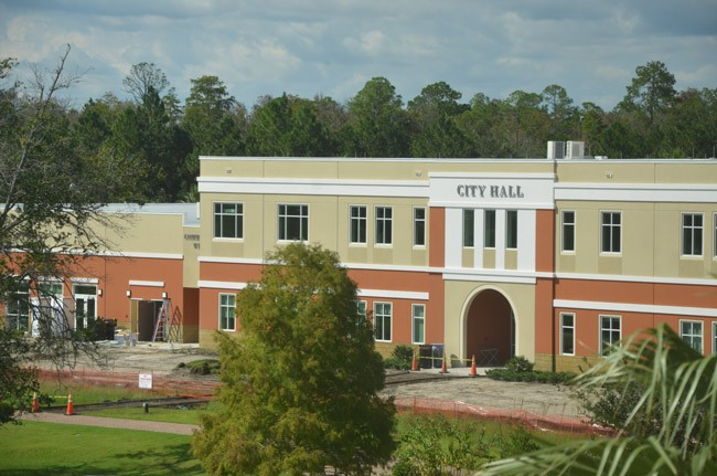 palm coast city hall nearly finished