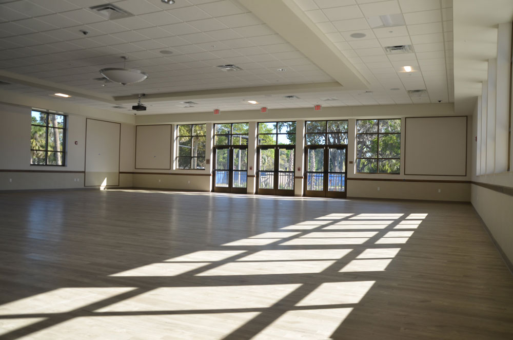 The Palm Coast Community Center could be transformed into a hospital ward for overflow Covid-19 patients, should that become necessary, hospital and city officials said. (© FlaglerLive)