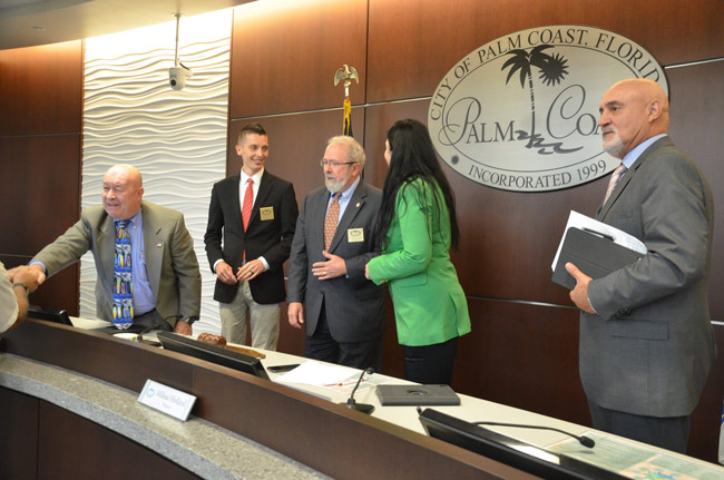 Palm Coast City Council members have different ideas about transparency. (© FlaglerLive)